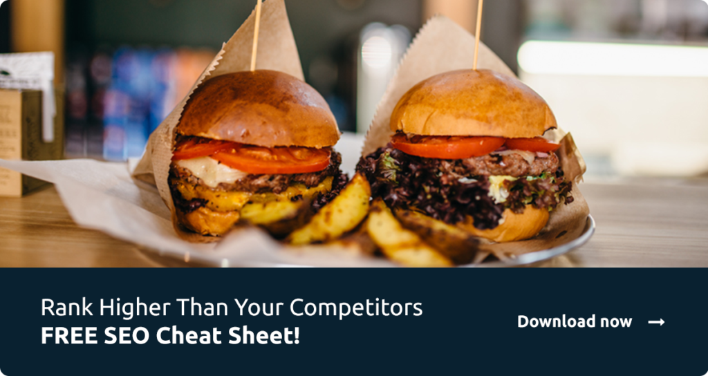 Two burgers - Seo checklist advert